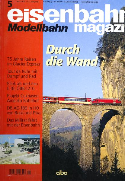 Артикул 9090-54  Журнал Eisenbahn Magazine, май 2005г (на немецком языке). Фотография выполнена с продаваемого журнала.